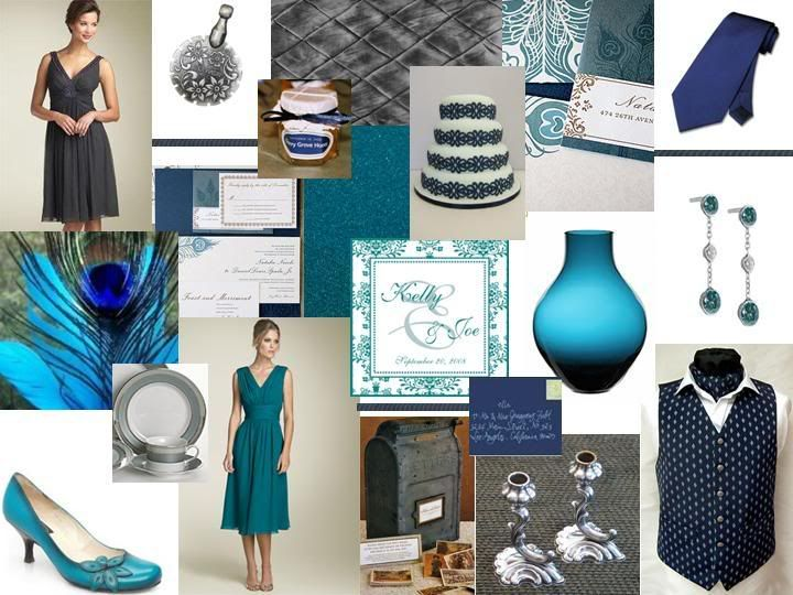 The Perfect Palette Lovely Pea Teal Navy Blue Slate Gray