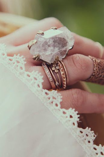 Crystal Visions Feather Ring  - Spell DesignsLace, Statement Rings, Boho Chic, Fashion, Crystals Rings, Style, Jewelry, Stones, Rocks