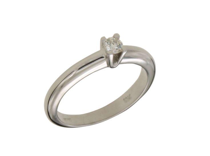 Δαχτυλίδι Μονόπετρο φαρδύ στρογγυλεμένο με Διαμάντι 32181