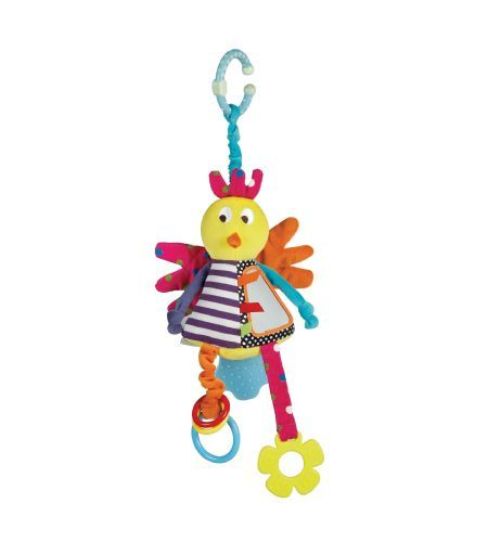 Mamas & Papas Jangly Bird - Lots of surprises with every touch will keep baby well entertained. Bonus, the feet are teethers to help sooth sore gums.