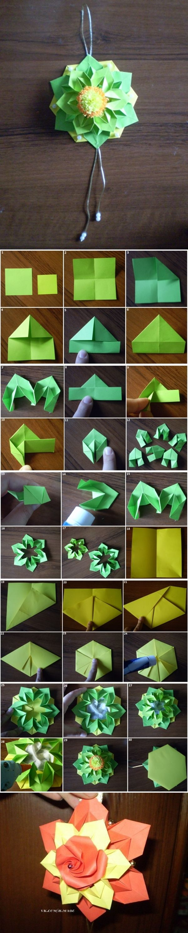 photo tutorial .... unit origami ... beautiful dimentsional ornament ... Flores de papel - Blog Pitacos e Achados - Acesse: https://pitacoseachados.wordpress.com - https://www.facebook.com/pitacoseachados - #pitacoseachados