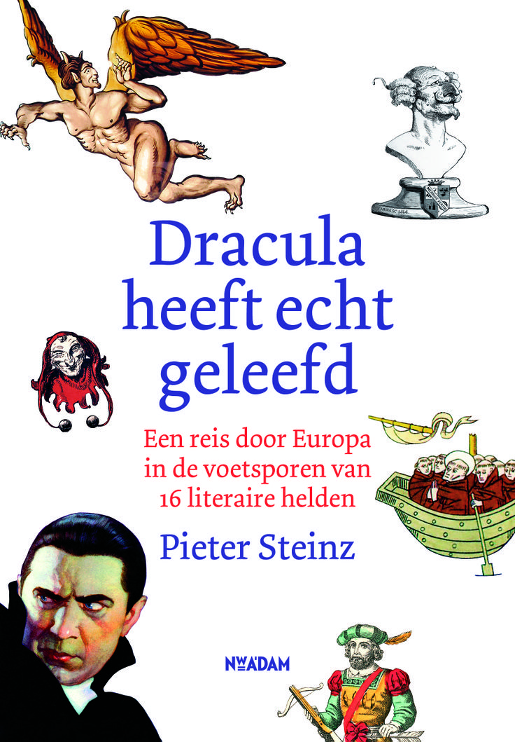 Een reis door Europa in de voetsporen van 16 literaire helden, door Pieter Steinz, auteur van bestseller 'Made in Europe'. 'Dracula heeft echt geleefd' verschijnt in mei.