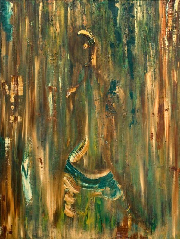 "Mirrored 2010 Oil on Panel 36 x 48"" www.priyankamac.com"