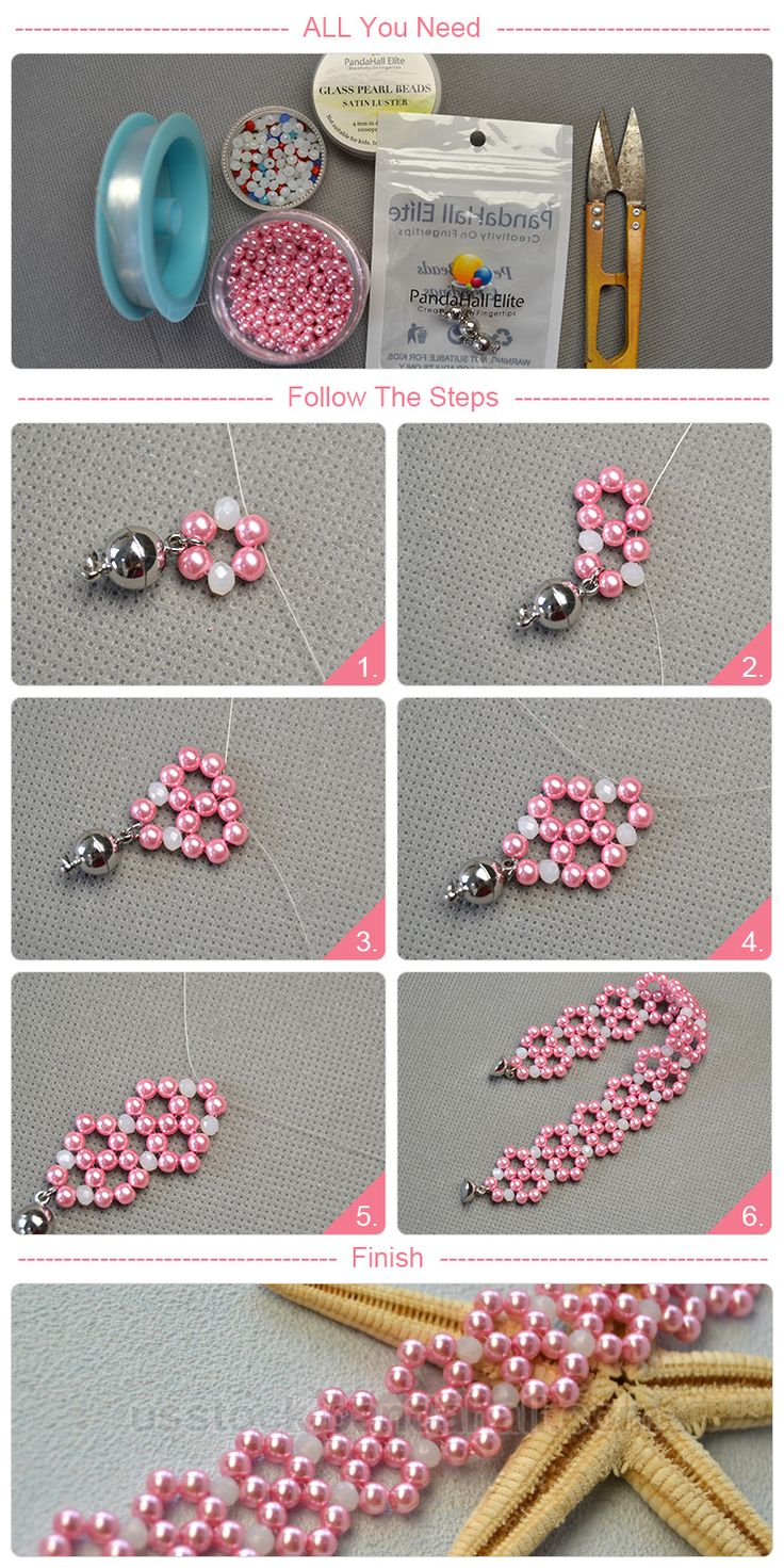 PandaHall Elite® 4mm pink Glass Pearl Beads Tiny Round Loose Beads for Jewelry Making, about 1000pcs/box – usstock.panahall.com