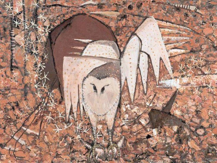 Owl .Australian born artist , Clifton .Pugh .1987