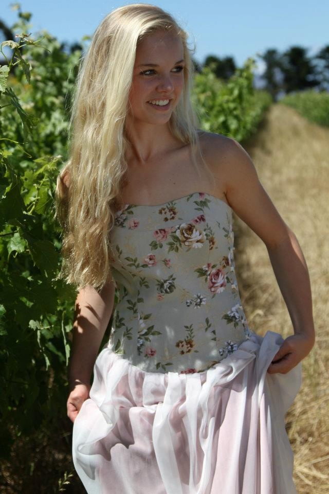 Floral bustier dress with ribbons - robyn-anne designs