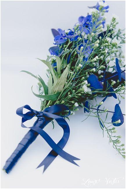 Blue brides maid bouquet