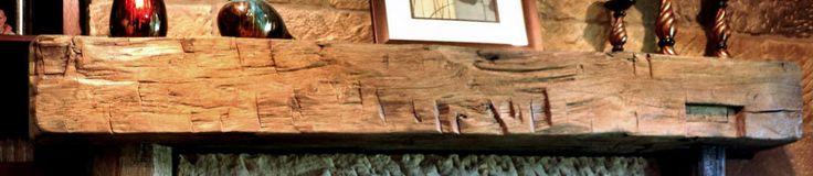 Rustic Fireplace Mantels | Barn Beam Fireplace Mantels | Ohio Mantels