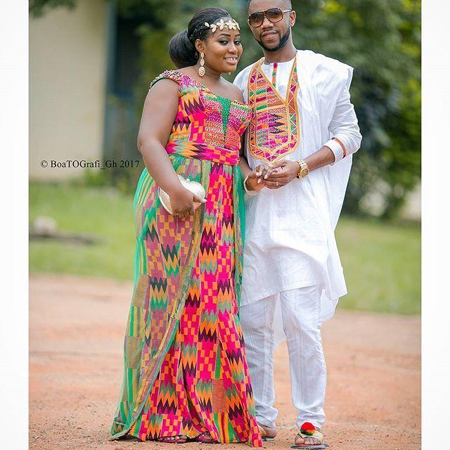Nana+Abi #engagement #traditional #weddings #kente #bride #groom #african #July #love #ghanawedding #kumasi #Ghana  #Regram via @boatografi_gh