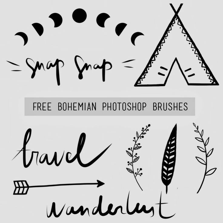 Free bohemian photoshop brushes by Dara Muscat