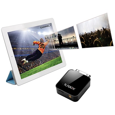 Turbo-X TV tuner for iPad/iPhone. Μετάτρεψε την Apple συσκευή σου σε φορητή ψηφιακή τηλεόραση.