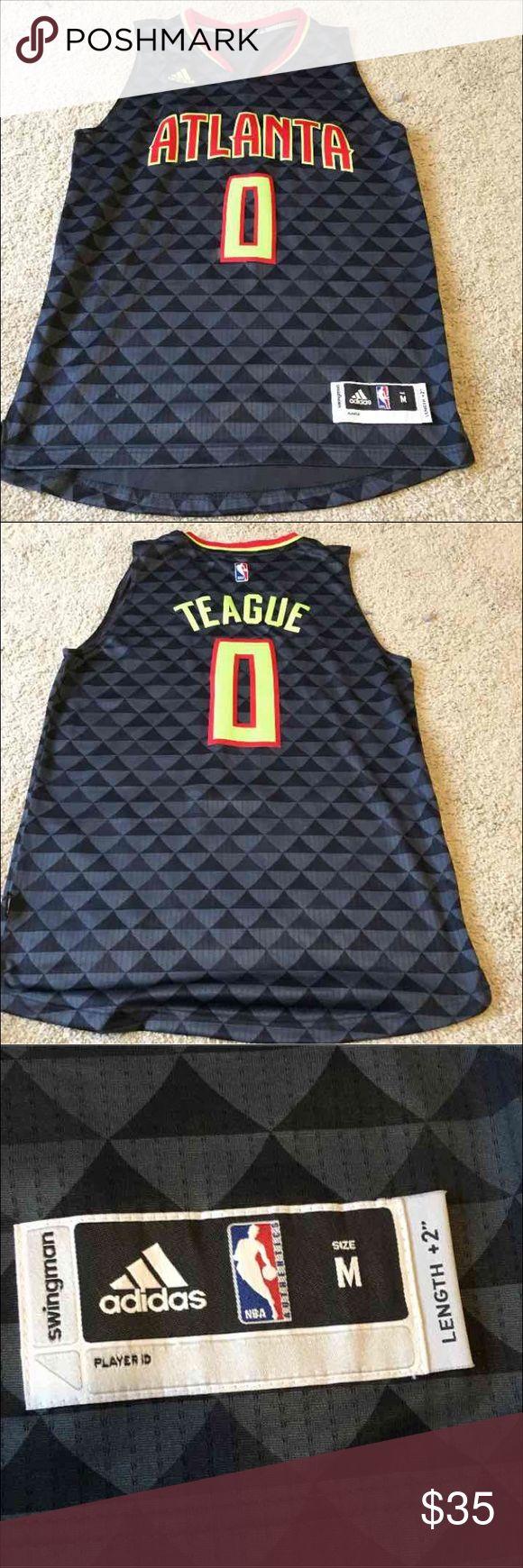 ... Majestic Mens Jeff Teague Atlanta Hawks Vertical Player T-Shirt - Red  XL Jeff teague ... f80e3daad