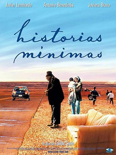 Historias mínimas :: Carlos Sorin, 2002. Three people and a baby set off on separate journeys, along the same road; their disparate dreams and stories intertwine amidst the breathtaking deserted Patagonic route.