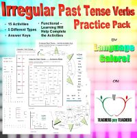 Irregular Past Tense Verbs – word lists, worksheets, activities, goals, and more | Free Language Stuff
