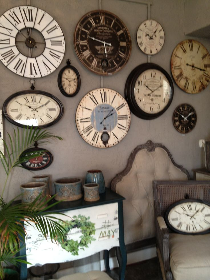Clock Wall....so Whimsical. It Reminds Me Of Alice In Wonderland