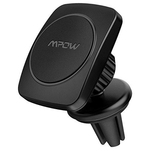 Mpow Magnetic Phone Holder for Car, Universal Air Vent Car Phone Mount Holder for iPhone X/8/8Plus/7/7Plus/6s/6Plus/5S, Galaxy S5/S6/S7/S8, Google, LG, Huawei and More