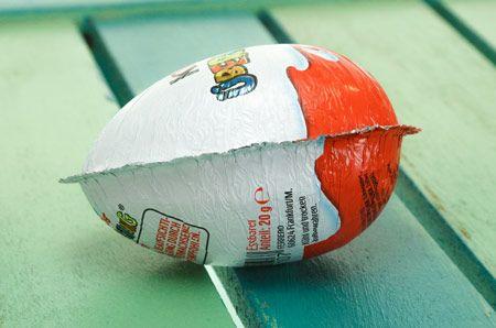 Ü-Eier neu befüllen für Adventskalender