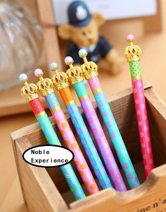 1pcs Lot Fashion Colourful Dots Crow Design Ballpoint Pen Korean Style Princess Ping Stationery