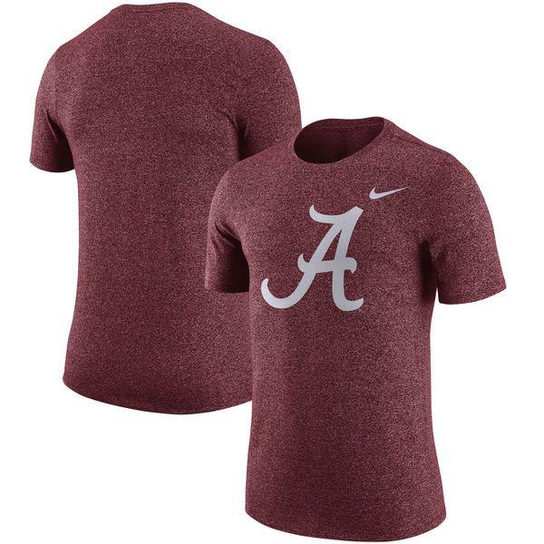 Alabama Crimson Tide Nike Marled Logo T-Shirt - Crimson - $31.99
