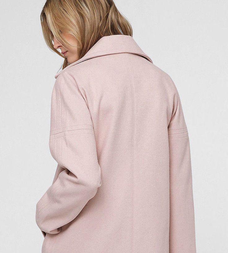 s.Oliver Damen Wollmantel Übergangs-Mantel rosa Neu Gr.42