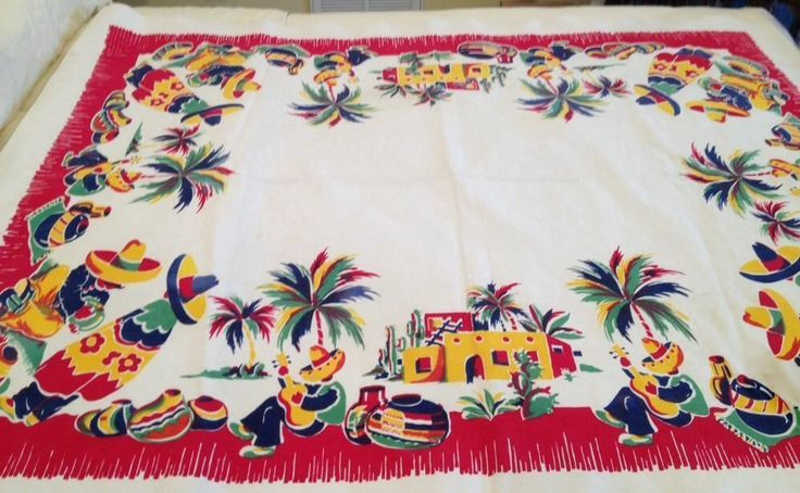 30 best vintage mexican linens images on Pinterest Tea