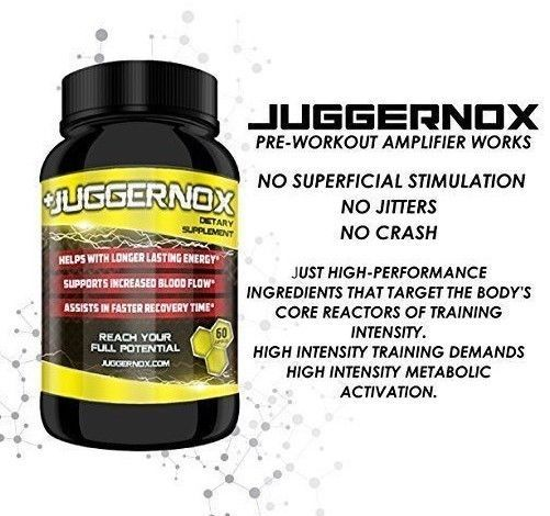 Juggernox Natural Muscle Enhancer Workout Energy Stamina Faster Recovery 60 Caps #Juggernox