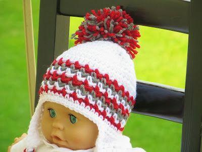 Ear Flap Hat Crochet Pattern for Boys and Girls, Newborn ...