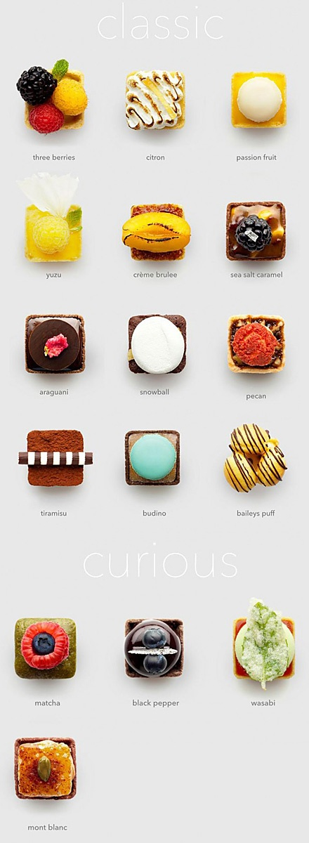 """The Fruute is a small creative pastry room in Los Angeles, focusing on the production of mini tarts (mini tarts), Ferro Concrete brand overall packaging and design from the American design studio, they say that they """"like fruit 'matchmaker."""