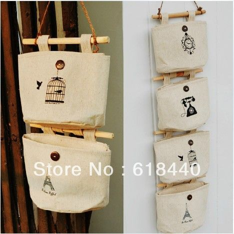 Aliexpress.com: Comprar Estilo Vintage Pastoral Zakka tela de algodón de colgar bolsos armario bolsa tela Door después de pared baño casa organizador de bolsa de cabecera confiables proveedores de Fashion Only.