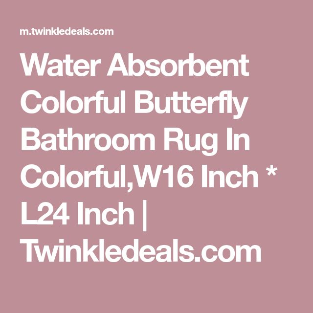 Water Absorbent Colorful Butterfly Bathroom Rug In Colorful,W16 Inch * L24 Inch | Twinkledeals.com