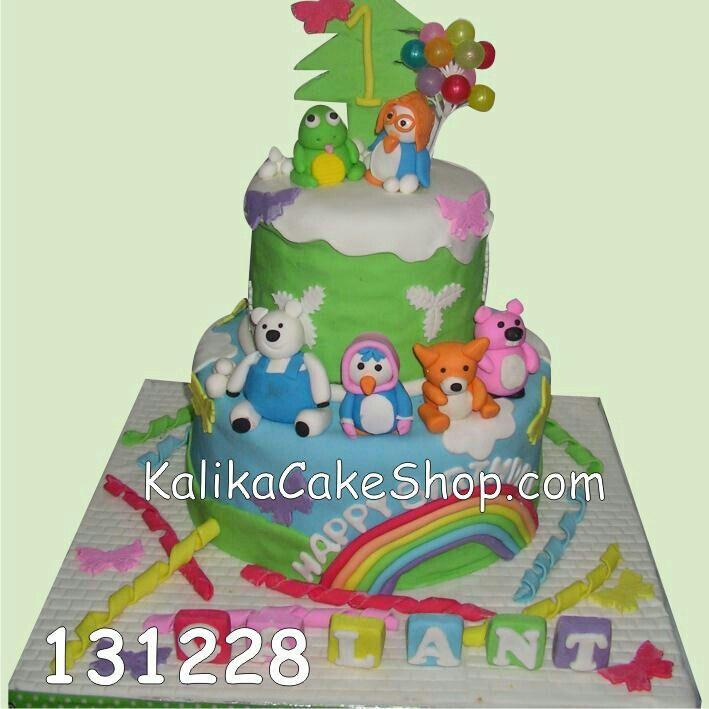 Kue ulang tahun 2 susun dengan 3D karakter by KalikaCakeShop.com