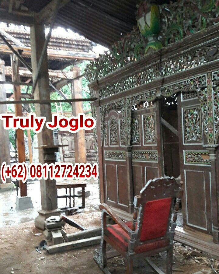 Found in Demak, a small town in Central Java. Made of teak and lots of carving.