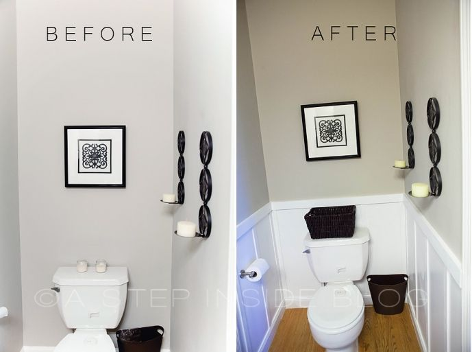Half Bath   Bathroom Before & After   A Step Inside