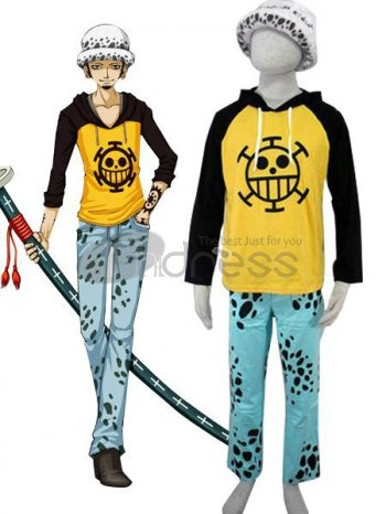 One Pice Cosplay / one piece trafalgar law cotton cosplay costumes / http://www.thdress.com/one-piece-trafalgar-law-cotton-cosplay-costumes-p1899.html