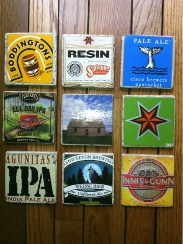 Katherine's Crafts: Beer Box Coasters