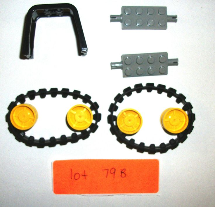 LEGO Yellow Wheels Digger 7633 7632 Rubber tread 64450 30285 Construction 43903 #LEGO