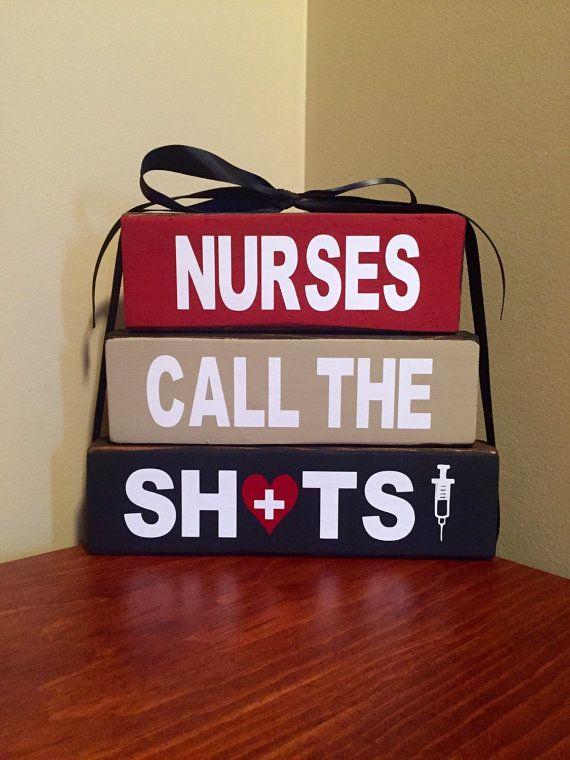 Nurses Call The Shots Nurse Gift Doctor Nurse by CraftyWoodzyStore
