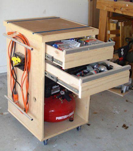 Compressor/Bench tool/Misc crap Cabinet - by Estley @ LumberJocks.com ~ woodworking community
