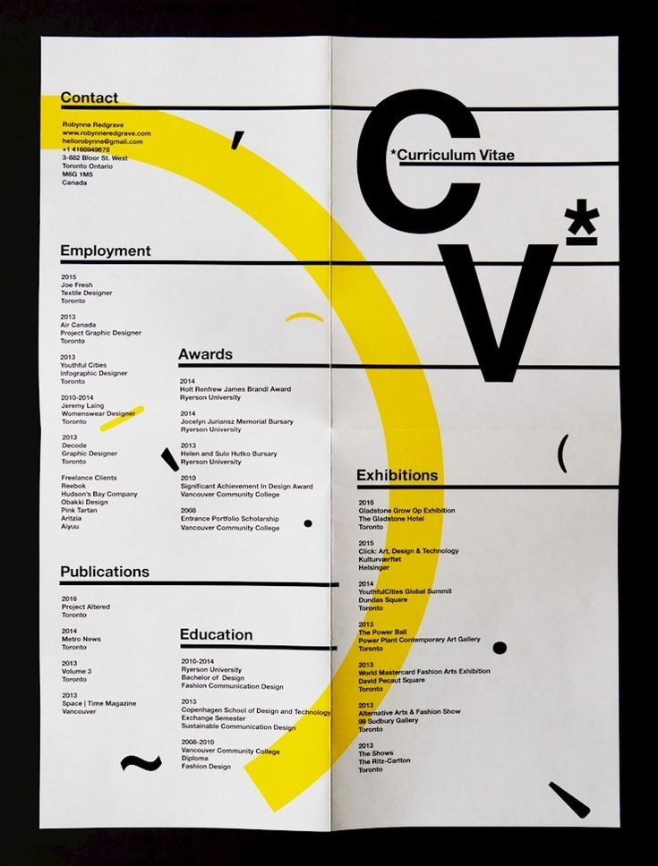 70 Creative Beautiful Resume Examples To Get Inspired Graphic