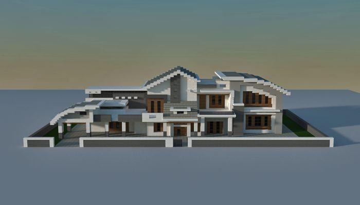 Modern minecraft house                                                                                                                                                                                 Mehr