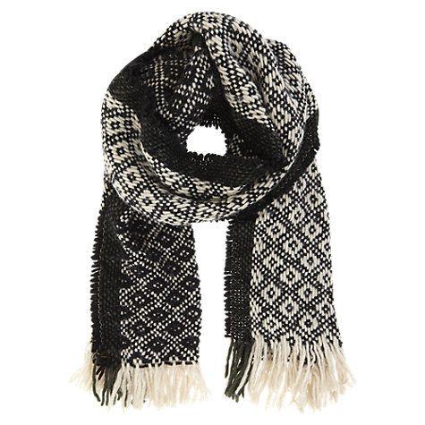 Buy Mint Velvet Folk Weave Scarf, Multi Online at johnlewis.com
