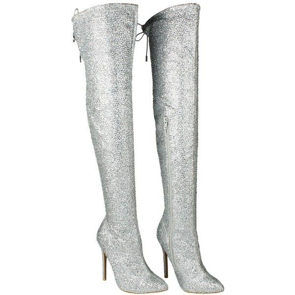 Sparkling Rhinestone Stud Stiletto Heel
