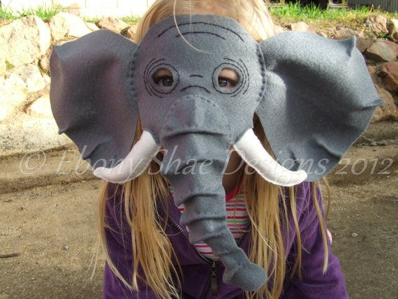 Elephant Mask PATTERN. Digital sewing pattern by EbonyShaeDesigns