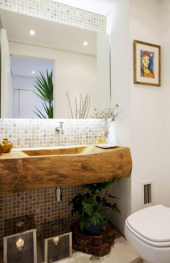 +1000 ideias sobre Moveis De Madeira Maciça no Pinterest  Moveis Para Escrit -> Pia Para Banheiro Rustico