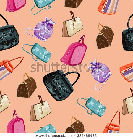 fashion woman handbags seamless pattern