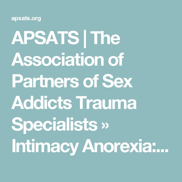 APSATS   The Association of Partners of Sex Addicts Trauma Specialists » Intimacy Anorexia: When You and Your Spouse Become Roommates
