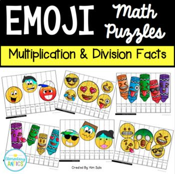 Make multiplication and division practice more fun with emoji puzzles!