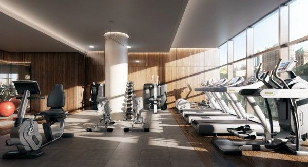 This type of ceiling would work on our fitness floor -- I like the lighting at each level