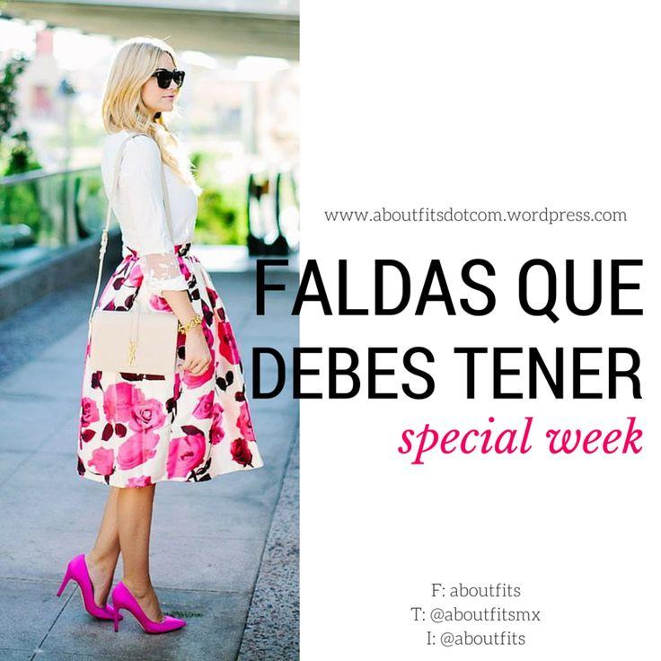 3 tipos de faldas que debes tener | Special Week | Fashion & Style Blog  skirt, musthave, wardrobe
