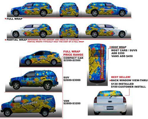 Car/Vehicle Wrap Pricing